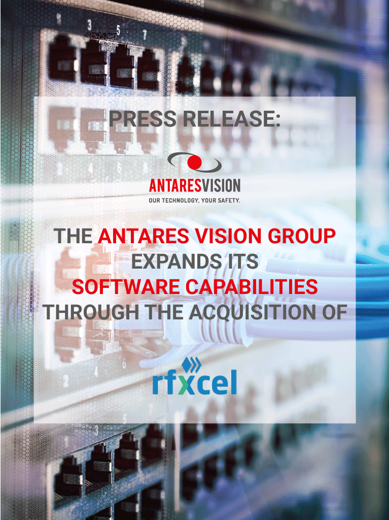 Antares Vision acquires rfXcel Corporation